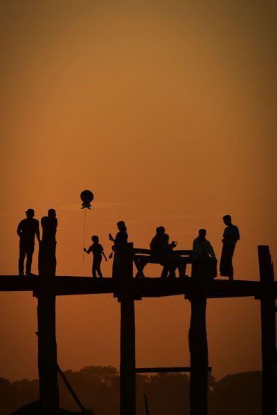 A lovely evening scene on the well visited Ubein bridge, which is regarded as the longest teak wood bridge. Siluette Sundown Bridgeporn Ubeinbridge Bridge Myanmar Walk This Way RePicture Travel The Traveler - 2015 EyeEm Awards The Tourist