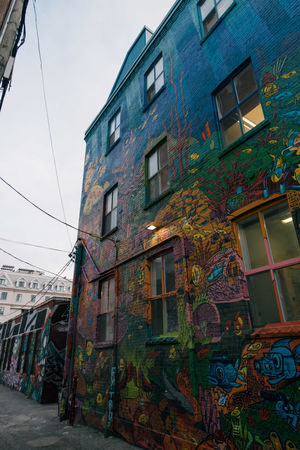 Architecture Building Exterior Built Structure Day House Multi Colored No People Outdoors Queen West Sky Toronto