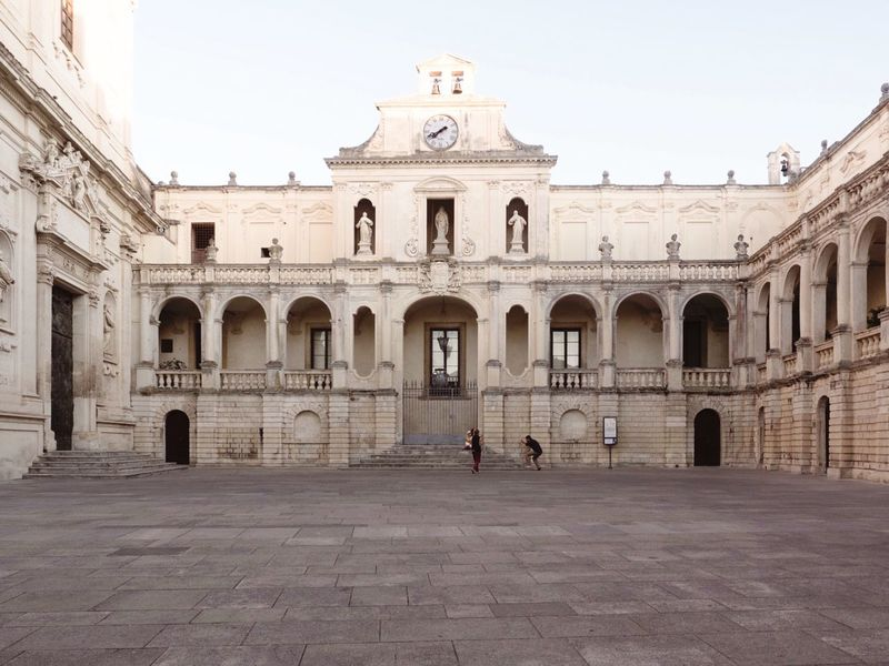 Arch Architecture History Building Exterior Built Structure Outdoors Place Of Worship Day Real People Men Clear Sky One Person Sky People Lecce Salento, Italy Adventures In The City