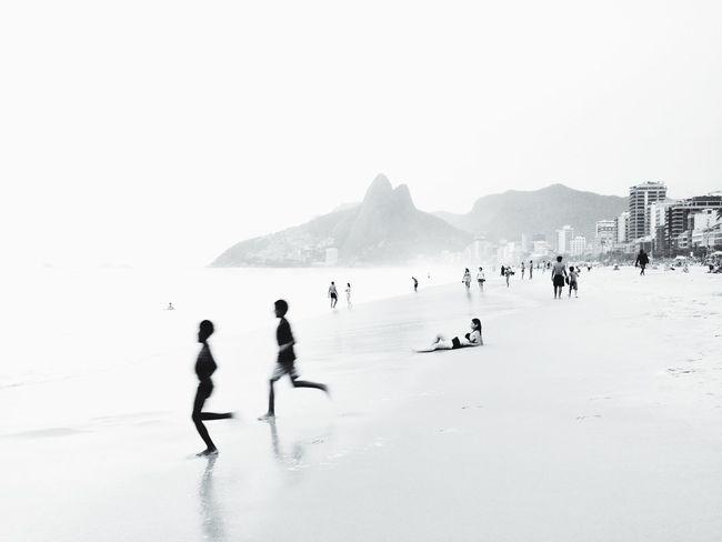 On The Move Children Rio De Janeiro Beach