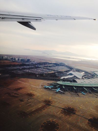 Travel From An Airplane Window at Incheon International Airport