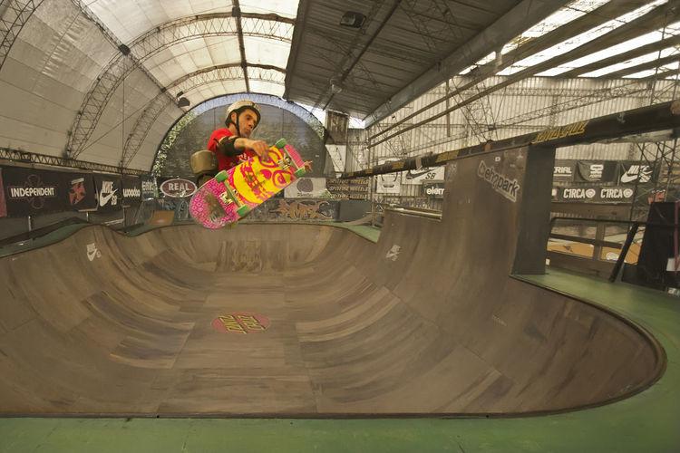 Frontside Skateboarding Skatepark Frontside Air Indoors  Lifestyles One Person Real People
