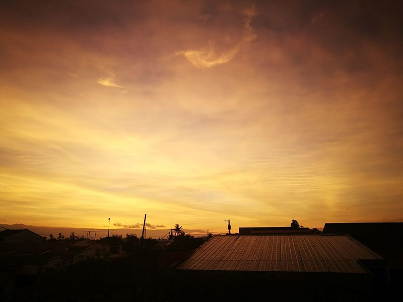 Sunrise Morning Sky Morning Light Philippines Warm Colours Orangesky Tacloban, Philippines