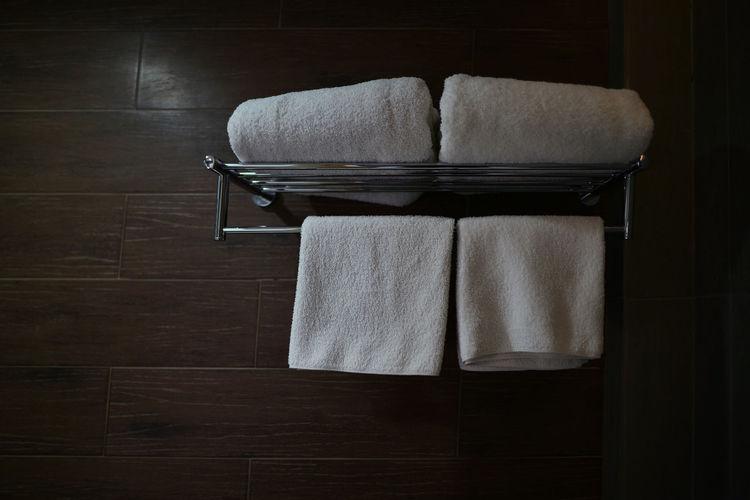 White towel in