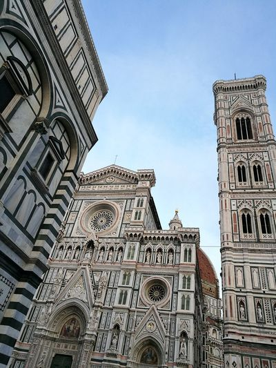 Firenze, Wonderful Place History Urban Perspectives Churchtower Architecture Architecture_collection Monument Travel Destinations Building Exterior Low Angle View Smartphone Photography Geometries Geometric Architecture Clear Sky No People