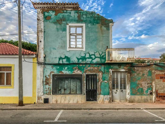 Architecture Sky House No People Morbid Beauty Ferragudo Portugal