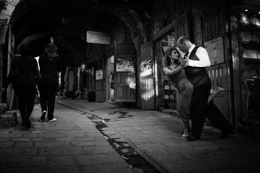 It takes more than just two to tango. Tango Tango Argentino Argentinian Tango Street Tango Byblos Souks, Lebanon