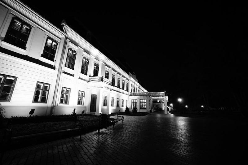 Almassy-Castle Blackandwhite Residential Building Vacations Journey Holiday Sightseeing Light And Shadow Hungary History Reflection Castle Gyula Building Exterior Architecture Night Built Structure Illuminated Outdoors Sky No People City EyeEmNewHere