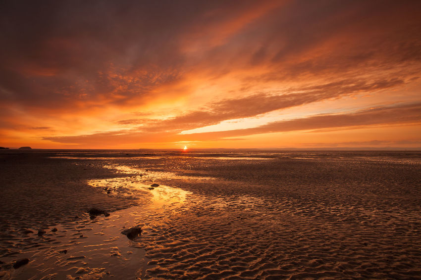 Beautiful Coastline English Seaside Nature Somerset England Sunset Beach Sunset Clouds Sunset View Textures Tranquility Beach Coastal Dusk Outdoors Sandbay Seascape Shore Summer Sundown Sunset Sunset Sky Uk Water