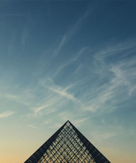 International Women's Day 2019 Sky Built Structure Architecture Cloud - Sky Building Exterior Low Angle View Building No People Nature Day Blue Outdoors Triangle Shape Shape High Section Pyramid Tall - High History The Past Pattern Louvre Louvremuseum Silhouette