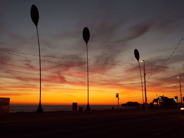 Late Evening Sky The Essence Of Summer Summer2016 Summertime Summer Tourist Attraction  Tourism Late Evening Night Time Blackpool Seafront Silhouette Silouette & Sky Sculpture Sculptures By The Sea Dune Grass Sculpture Silhouette Of Dune Grass Sculpture Sea Night Night, Sleep Tight End Of The Day 43 Golden Moments On The Way Miles Away