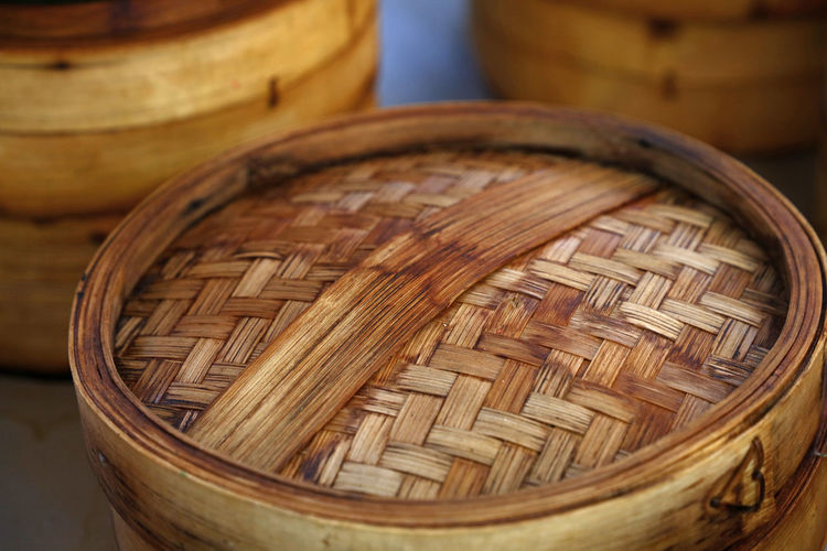 Traditional chinese wooden bamboo steamer for cooking food Container Basket Wood - Material Wicker Close-up No People Art And Craft Asian Food Bamboo - Material Food And Drink Food Craft Textured  Chinese Food Brown Pattern Still Life Focus On Foreground Steamer Cuisine Chinese Cuisine Cooking Cooking Utensil Traditional
