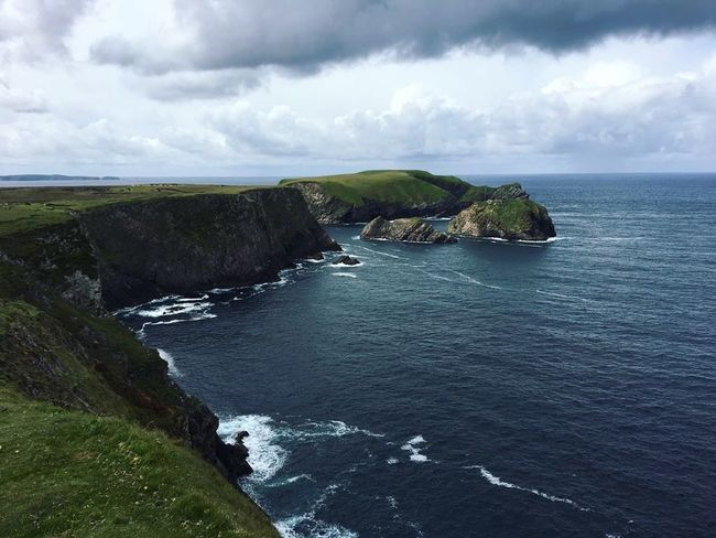 Ireland Ireland Landscapes Irelandinspires Cliffs Sea Sea And Sky Landscape Nature Greenfields No People Water Nature Beauty In Nature Outdoors Travel
