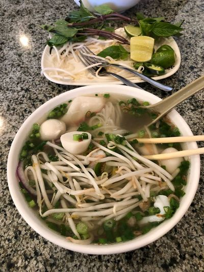 Pho Saigon 8 Food And Drink Food Bowl Freshness Vegetable Healthy Eating Food Stories Indoors  No People Soup