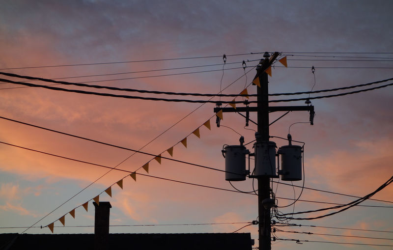 Cable Cloud - Sky Connection Day Electricity  Electricity Pylon No People Outdoors Power Line  Power Supply Sky Sunset Technology Telephone Line Togetherness
