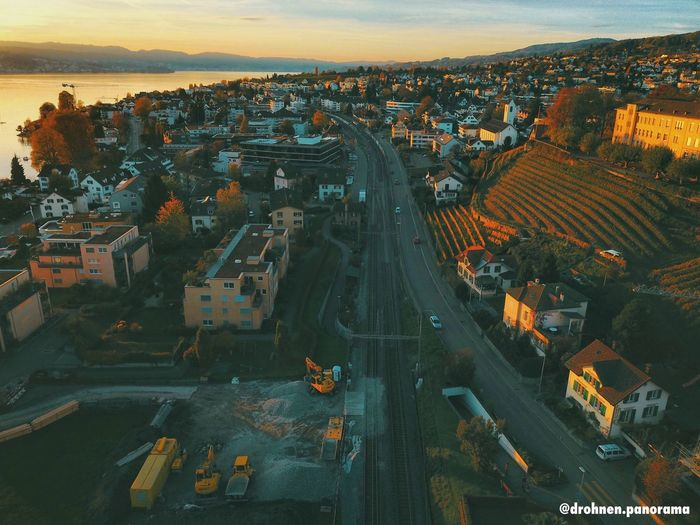 Drone Photography Mavicpro Swiss Schweiz Zürich Droneoftheday Drohne Drone  Architecture Cityscape Built Structure Building Exterior High Angle View City Outdoors Aerial View Residential Building No People Community Sky Day Nature