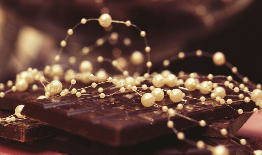 Close-up of chocolate on table