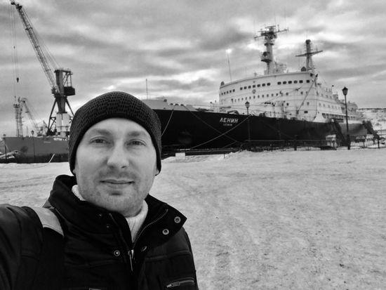 Lenin Murmansk winter Ледокол