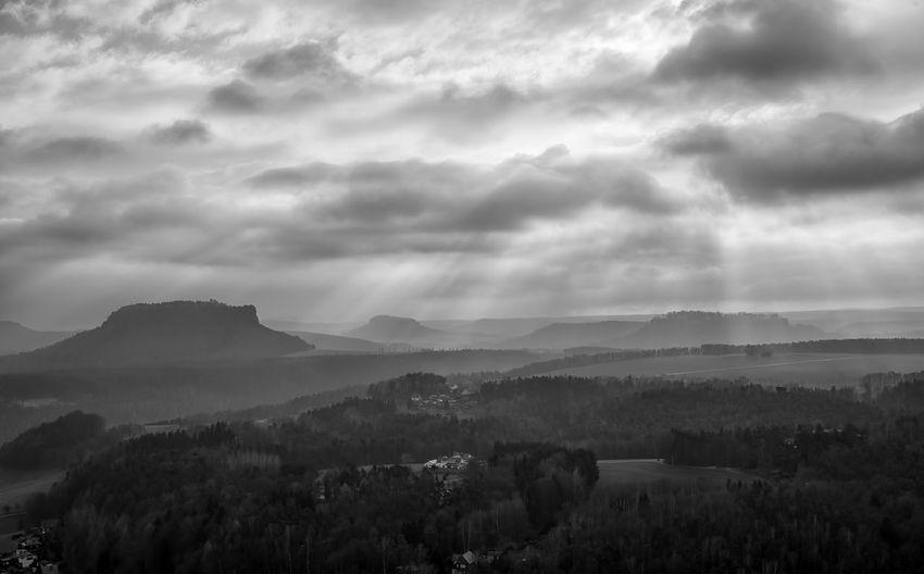 Black & White Black And White Blackandwhite Blackandwhite Photography Cloud - Sky Clouds And Sky Monochrome Mountain Sun Beams