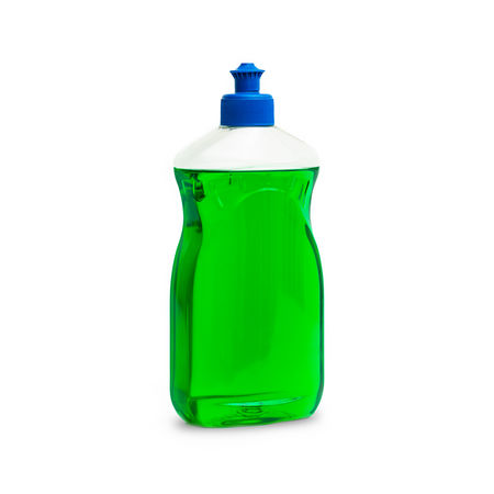 Blank dish washing liquid package isolated on white Business Cleaning Container Household Housework Hygiene Isolated Liquid Antiseptic Bottle Chemical Clean Cleaning Up  Dishwasher Dishwashing Disinfectant Domestic Green Color Isolated White Background Liquid Packaging Plastic Soap Wash Washable