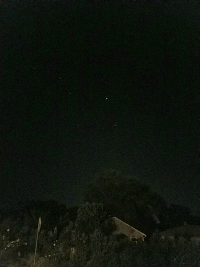 The brightest one is theInternational Space Station! And the dimmer ones make up the Big Dipper! ISS From My Point Of View