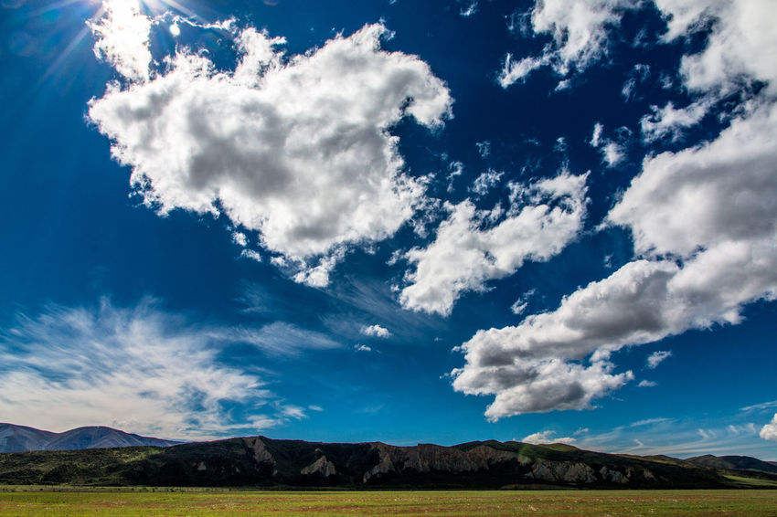 Blue Blue Sky Clouds Clouds And Sky Cloudscape Landscape Landscape_Collection New Zealand New Zealand Scenery Panorama Panoramic Panoramic Photography Sky
