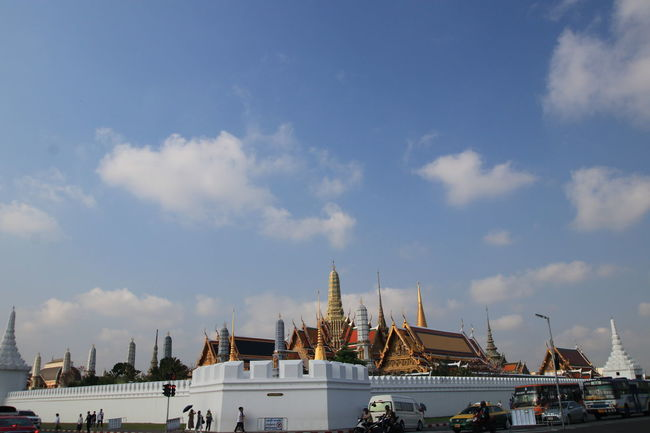 Wat Phra Keaw,Bangkok Thailand and white cloud blue sky Blue Sky Bangkok Thailand. Emerald Buddha Temple Travel Wat Phra Keaw Architecture BrightDay Building Exterior Built Structure City Cloud - Sky Day Daylight Destination Landmark Nature No People Outdoors Place Of Worship Religion Scenics Sky Spirituality Symbol Travel Destinations