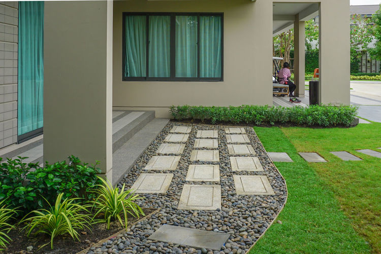 Stone walkways,