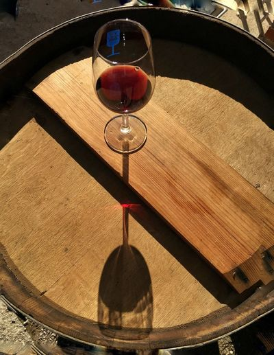 Red wine Wine Wineglass Sunlight Shadow No People High Angle View Nature Day Red Transparent Alcohol Drink Red Wine Glass