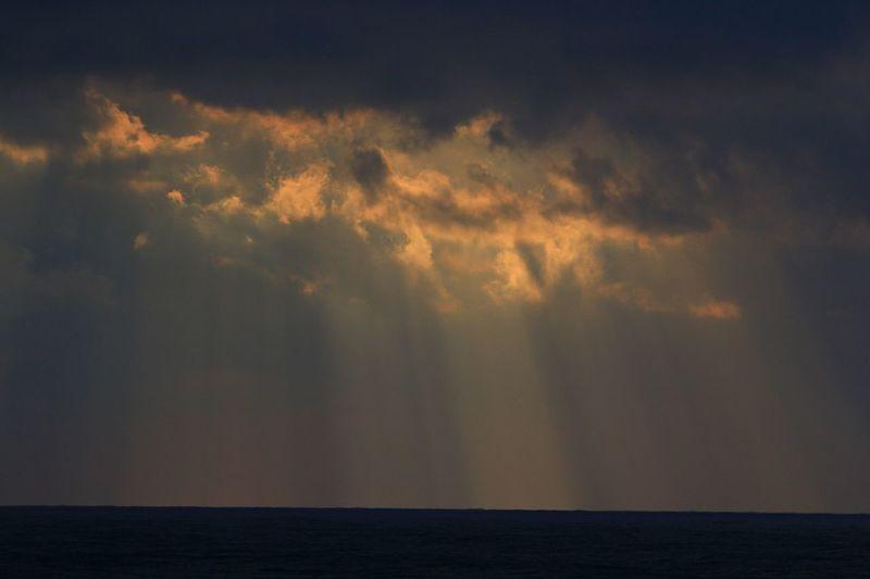sunset Komatsu Cloud Sea Of Japan Sunset Ataka