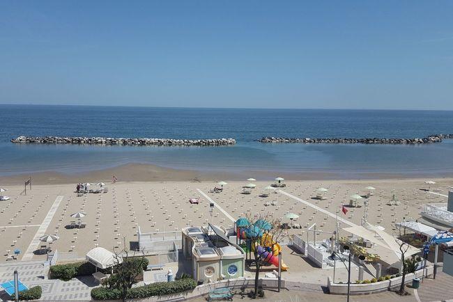 bellaria Igea Marina Sand Summer Blue Sunny Beach Umbrella