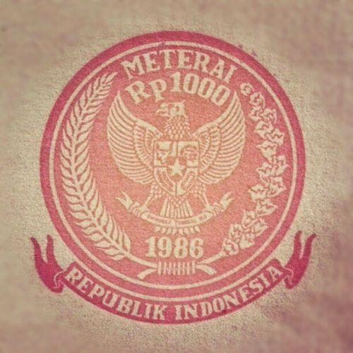 Materai 1986 Materai Insta Instagram Cap stempel ind ina indo indonesia older old jadul kuno tua garuda garudaindonesia pancasila 1986 republic republicindonesia