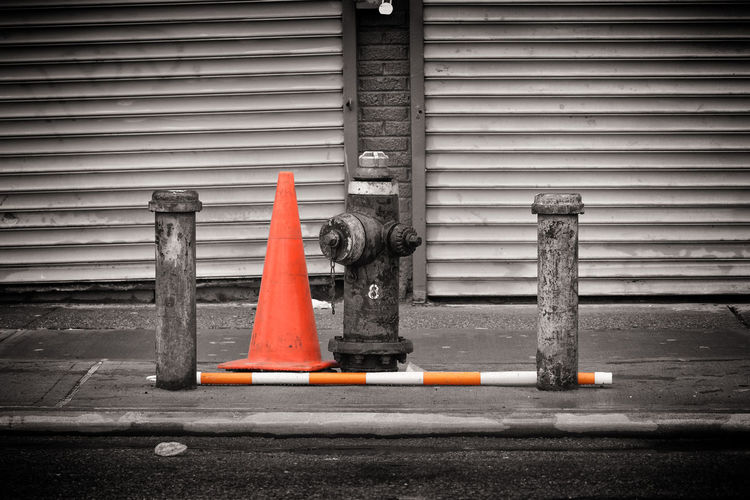 Color pop! Colorpop Safety Traffic Cone Outdoors Day No People Built Structure Road Sign Building Exterior Architecture Close-up Coney Island / Brooklyn NY Coneyisland Newyork New York Newyorkcitylife Newyorkcityphotographer Newyorkphotography Newyorkcitythroughmyeyes Newyorkcity Coneyislandbeach