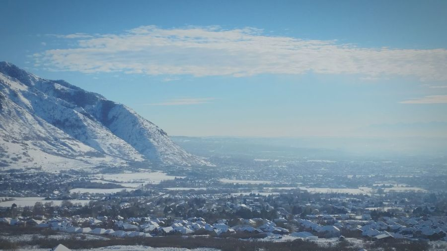 Utah Mountain Winter Wonderland Winter Odgen On Top Of The World Nature