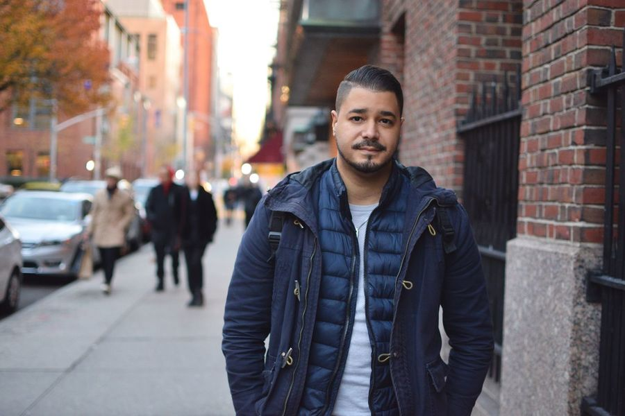 ThatsMe Looking At Camera Portrait City Street Adults Only Beautiful People One Person Handsome Front View Lifestyles City Life Today's Hot Look Streetphotography Street Photography Nikon 35mm Dx 1.8 City Street City Life Nikond3300 Nikon D3300 NYC Photography NYC Street Photography NYC Street NYC Nikonphotography
