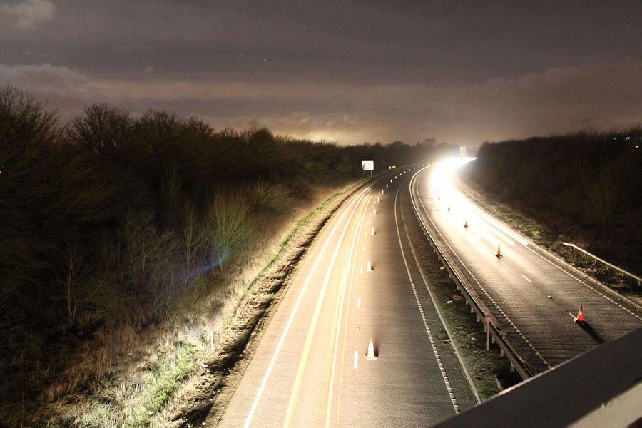 Nightphotography Light Trail Night Braintree Essex