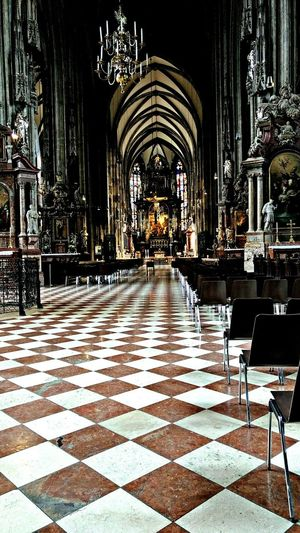HDR Collection Hdrphotography Hdr_lovers Inside Photography Cathedral Pattern Floor Floor Tiles Architecture Interior Vienna