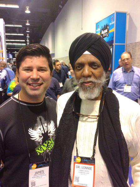 That's Me with HAMMOND ORGAN Legend Dr. Lonnie Smith at The NAMM Show That's Me Hanging Out Namm HAMMOND ORGAN