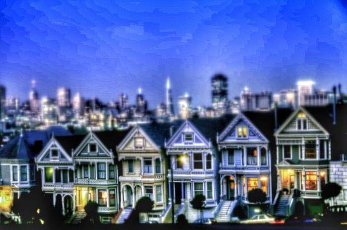 Painted Ladies, San Francisco, California Popular Photos Editorial  California San Francisco Sanfrancisco Painted Lady Painted Ladies Taking Pictures Travel Photography Selective Focusing Selective Focus Editorial  House Houses City Cityscape Travel Destinations Tourist Attraction  Tourist Destination Tourist Scenic Landscape_Collection Landscape