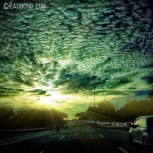 #taking Photo #sunrise #cloudy #sunrays #highway #HDR #hdrphotography
