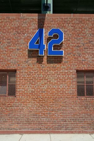 42  Jackie Robinson Outside Fenway Park Boston, Massachusetts Brick Exterior Wall EyeEm Gallery Eyeemphotography EyeEm Minimalist No People EyeEm Best Shots Red Sox Nation S6