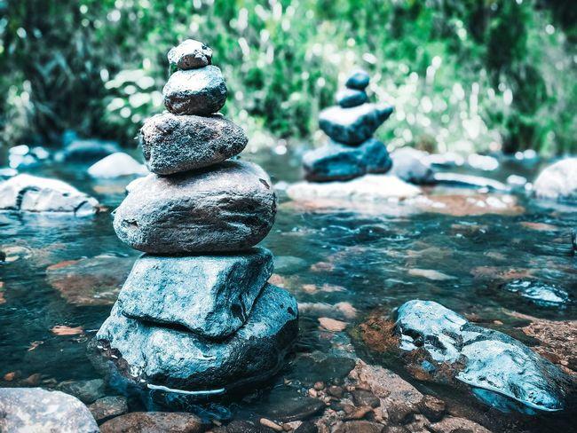 The natural balance. No People Stream Rock Balancing Outdoors Nature Rock Balance Rock Water Close-up