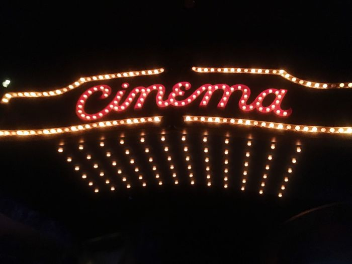 Cinema Sign Neon Movıe Movie Theater Old Times Neon Lights Old-fashioned MOVIE First Eyeem Photo