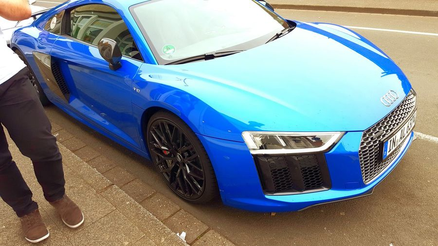 Audi R8 2016 Blue Metal Blue Color Amazing Car Audi R8 V10 Plus Quattro Audi R8 V10 Plus AudiR8v10 Audi R8 Audi R8
