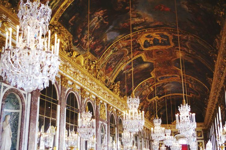 Château De Versailles  Historical Monuments France Chateauversailles Galeria Castle Historical Histoire Gold Galerie Des Glaces