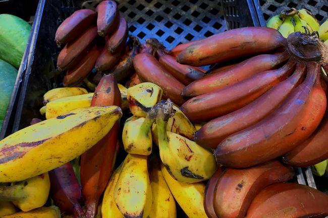 Red Banana Bananas Banana Fruit Yellow Banana
