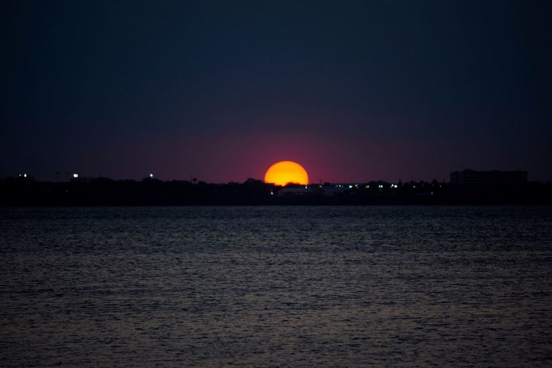 Sunset last night. Water Scenics Night Tranquility Sunset Beauty In Nature Tranquil Scene No People Sky Nature Outdoors Hello World Taking Photos Enjoying The View Sunset_collection Landscape Sunset Silhouettes River Sunsets Nature Orange Color Sunset And Clouds  Good Night