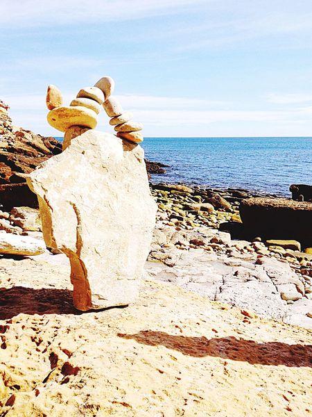 Rockstacking Balance Coast Nature Stone Algarve