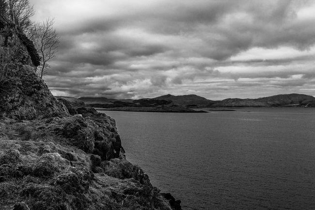 Taken during a walk at the north end of Lismore. Black And White Cloudy Sky Islands Landscape Lismore Scotland Monochrome Nature Scotland Sky Water Reflections