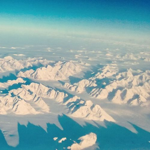 Greenland Greenland Ice Snow 30000feet Travel Onboardwifi Flighttravel Aerlingus